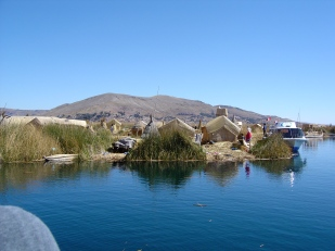 Uros reed people on Lake Titicaka